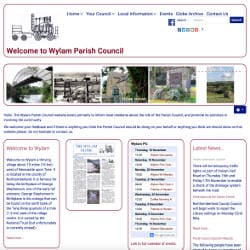 The website of Wylam Parish  Council